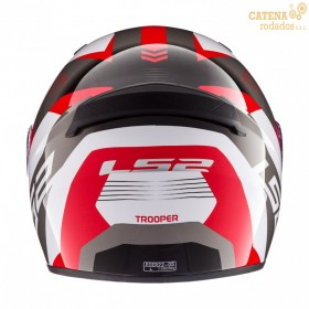 Casco 352 Trooper Blanco Rojo